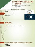 1. Presentación Tecnología de Laácteos