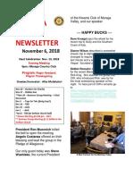 Moraga Rotary Newsletter Nov 6, 2018
