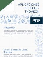 Aplicaciones de Joule-thomson