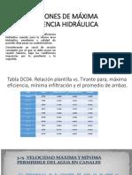 Secciones de Máxima Eficiencia Hidráulica