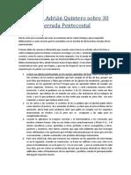 Respuesta Adrian Quintero Sobre Doctrinas Errada Pentecostal