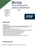 Polarizaciones Del Transistor Bjt