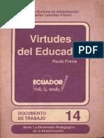 Paulo Freire Virtudes Del Educador