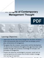 Origins of Contemporary Management Thoughtv1