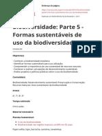 Biodiversidade Parte 5 Formas Sustentaveis de Uso Da Biodiversidadepdf