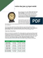 1. Menentukan Waktu Dan Jam Yg Tepat Untuk Trading Forex