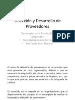 Selección y Desarrollo de Proveedores