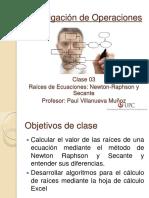 01 Clase 3 - Newton-Raphson y Secante