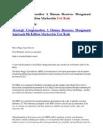 Strategic Compensation a Human Resource Mangement Approach 8th Edition Martocchio Test Bank