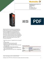 Datasheet Weidmuller Switch