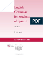 English Grammar for Students of Spanish Workbook