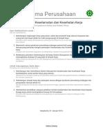 Kebijakan Keselamatan dan Kesehatan Kerja (K3).doc