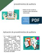 Aplicación de Procedimientos de Auditoria