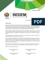 Carta Empresarial Esbelta Sedem