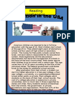 Education in the USA Reading Comprehenson