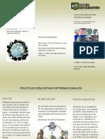 actividad 1 triptico Políticas Educativas Internacionales