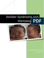 Stickler Syndrome and Homoeopathy