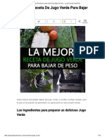 La Mejor Receta de Jugo Verde Para Bajar de Peso - La Guía de Las Vitaminas