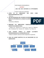 Cuestionario de Bioquímica II