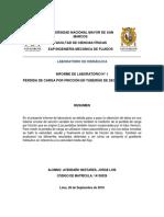 Primer Informe Lab. Hidraulica Bernandino