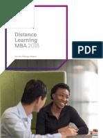 Warwick Business School MBA Brochure 2017 18
