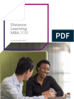 Warwick Business School MBA Brochure 2017 18