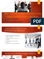 Diaposit. 12 Tips Para Entrevista Laboral