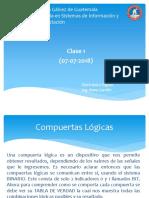 Electrónica Digital Clase 1 (07!07!2018)