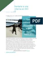 Cómo Enfrentarte a Una Auditoría Interna en ISO 9001