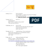 Week Agenda 2010