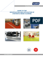 FERFA Guide for Spec and Application of Systhetic Resin Flooring
