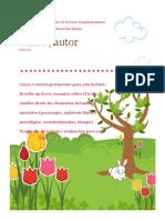 Formato Ficha de Textos de Lectura Complementaria Para Primer Ciclo de Educación Básica