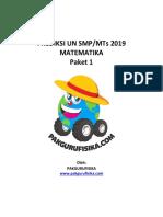 Prediksi UN Matematika SMP MTs 2019 Paket 1_Soal