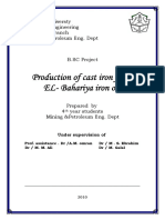 Production of cast iron from EL- Bahariya iron ore