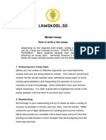 Lawskool.sg - Model Essay