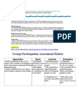 Group Work Rubric Examples