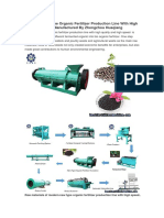 Modern New Type Organic Fertilizer Production Line With High Speed Manufactured by Zhengzhou Huaqiang