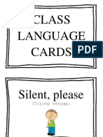 Class Language Cards