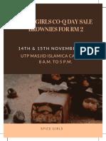 White & Black Modern Cookies Bake Sale Flyer