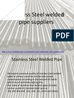 Stainless Steel Welded Pipe Suppliers