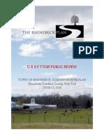 Rhinebeck Draft Comp Plan nomaps