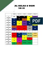 Jadual Kelas 6 Usim 2018