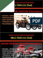 0811-7543-111 (Tsel), Jasa Rental Motor Pekanbaru, Rental Motor di Pekanbaru