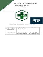 Coverpelaksanaan Audit Internal i