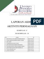 Report Jualan PPI (Keusahawanan)