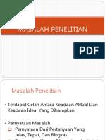 MASALAH-PENELITIAN  ppt