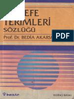 Bedia Akarsu Felsefe Terimleri Sözlüğü İnkılâp Yayınları