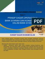 Sesi 1 Prinsip Dasar Operasional Bank Syariah