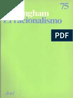 Cottingham, John - El Racionalismo Ed. Ariel, Barcelona, 1987 (Trad. Juan-Andres Iglesias)