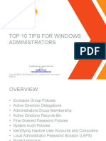 Top 10 Windows Tips for Administrators